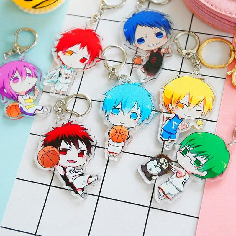 7 type Anime Kuroko no Basket Keyring Akashi Seijuro Murasakibara Atsushi Acrylic Keychain Cute Character Limited Kawaii Pendant