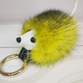 8 cm 100% Real Genuine Mink Fur Keychain Pendant Bag Car Charm Tag Cute Mini Hamster Toy Doll Real Fur Keychains