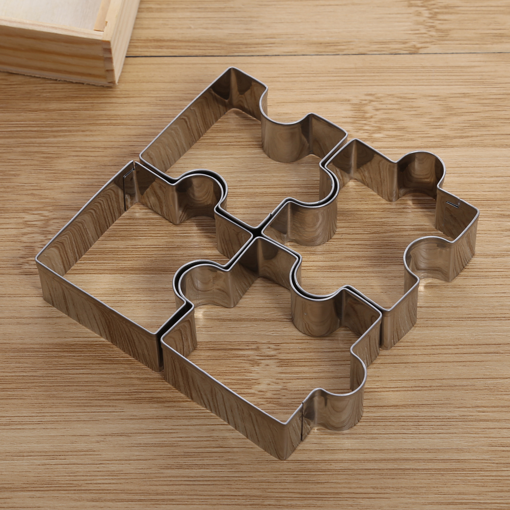 4pcs Stainless Steel Jigsaw Cake Mold Cookie Cutter Fondant Cake ...