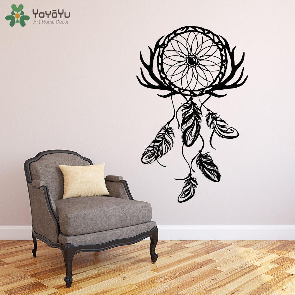 Bohemian Style Dream Catcher Wall Decal Livingroom Hippie Home ...