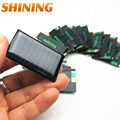 10 Unids/lote 5 V 30mA 53X30mm Micro Mini Pequeña Potencia Panel de Células Solares Para Diy, 3.6 V Cargador de Batería Solar LLEVÓ la Luz de Células Solares