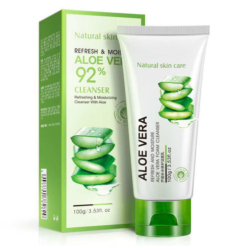 Aloe Vera Extract Hydrating Repair Facial Cleanser moisturizing Oil Control Cleanser Acne Treatment Deep Pore Clean