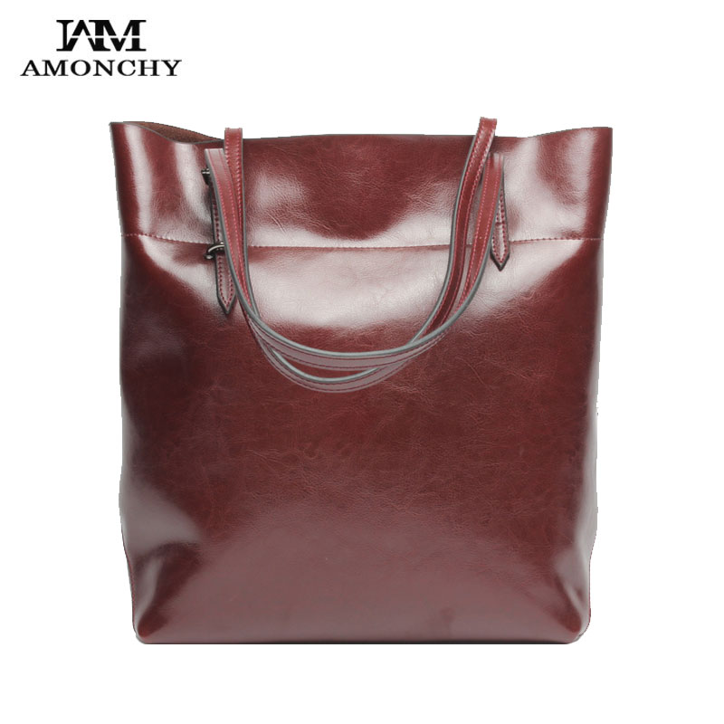 fe0bbd4394 2017 Hot Genuine Leather Women Shoulder Bags Famous Brand Cowhide Lady  Messenger Bag Natural Leather Handbags Retro Simple Totes-in Shoulder Bags  from ...