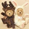 Симпатичные лось мишка с тканью плюшевые игрушки ручной работы мягкие детские совместное медведь кукла девушки день рождения рождественский подарок высокого качество