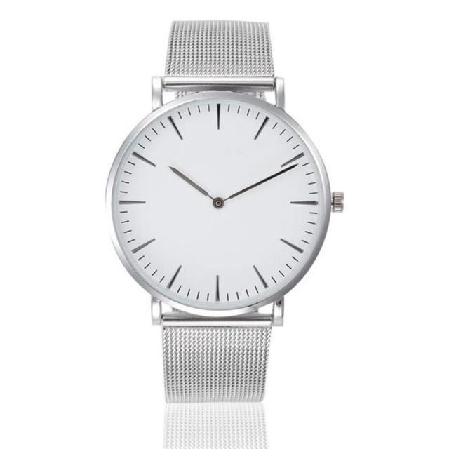 Women Watches Montre Femme Classic Casual Watch Fashion Silver Stainless Steel B