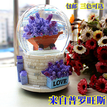 crystal ball floating snow music box music box birthday gift to send girls Christmas gifts