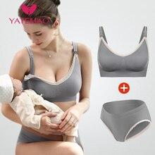 YATEMAO Conjuntos de Sujetador de lactancia, ropa interior para mujeres embarazadas