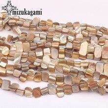 Color Natural de agua dulce Cuentas de concha geometría forma intervalo perlas sueltas 45 unids/lote para collar de bricolaje accesorios de fabricación de la joyería