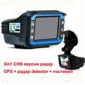 """3 in1 versão Russa detector de radar do carro dvr 2.4 """"HD 1280X720 P tacógrafo GPS dispositivo De aviso de Tráfego rastreador Detector de Radar"""