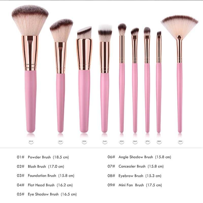 15pcs/set Professional Makeup brushes Eyebrow eyeliner Blusher Foundation fan powder Cosmetic Make up brush set Beauty Maquiagem