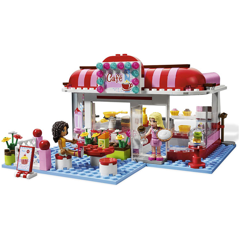 New Bela Compatible 10162 Friends City Park Cafe Building Block Sets Educational Toys Bricks Toys For Children toys for kids new 7033 friends series the city park cafe pirate ship model building block classic girl toys compatible with lepin