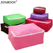 Donbook 1PC Non-woven Fabric for Quilt Folding Clothes Storage Organizer Print Pattern XS-XXL Storage Bags A198(China)