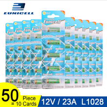 50pcs=10 Cards 12V 23A Dry Alkaline Battery 21/23 A23 E23A MN21 MS21 V23GA L1028 For Toy Doorbell Control High Voltage Batteries 5pcs lot alkaline battery 12v 23a dry batteries 21 23 a23 e23a mn21 ms21 v23ga l1028 for doorbell car alarm remote control etc