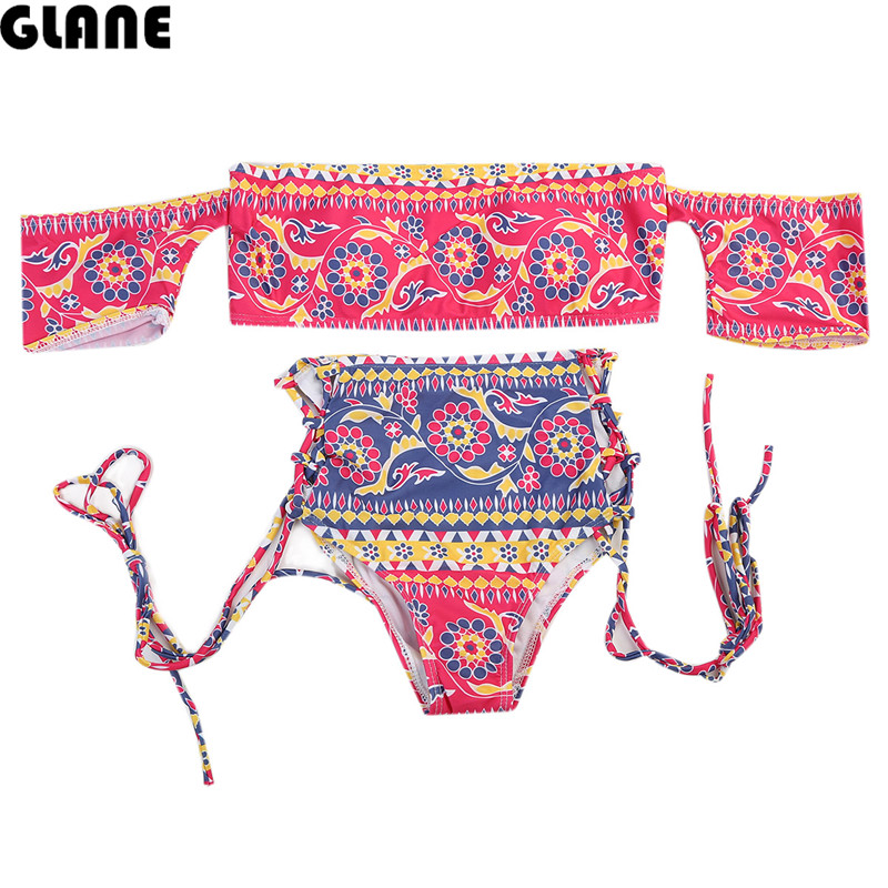 Swimwear High waist Women Bandage Push-Up Padded Bra Top Bikini Set Swimsuit Bathing Suit Biquini Brazilian Maillot De Bain swimwear bikini high waist swimsuit women bikini set 2016 push up biquini maillot de bain femme beach bathing suit swim wear