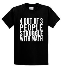 Hot Sale Punk Rock T-Shirts Men's 4 Out of 3 People Struggle With Math Funny Geek Hipster cool tops