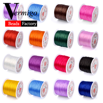 60m/Roll DIY Crystal Beading Stretch Cord for Jewelry Making 0.7mm Elastic Thread Rope Diy Bracelet Necklace Accessories - discount item  38% OFF Jewelry Making