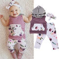 Newborn Infant Baby Girl Clothing Set Pullobver Hoodie Floral Vest Tops Pant Legging Handband Cute Kids Outfits Set 3pcs