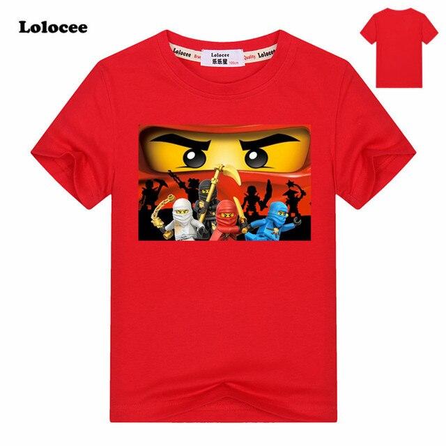 3-14Y Crianças t camisa das meninas dos meninos Roupas de Verão Roupas  Ninjago Ninja c2c11e40ae32c