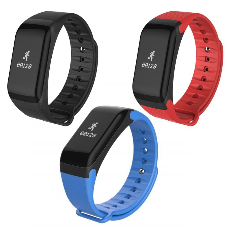 F1 Waterproof Bluetooth Smart Bracelet Blood Pressure Heart Rate Monitor Fitness Sport Tracker Wristband Smartbracelet With Pedo