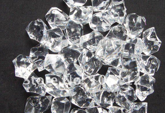 500pcs lot 25mm 15mm crystal clear acrylic ice vase for 15 creative vase fillers