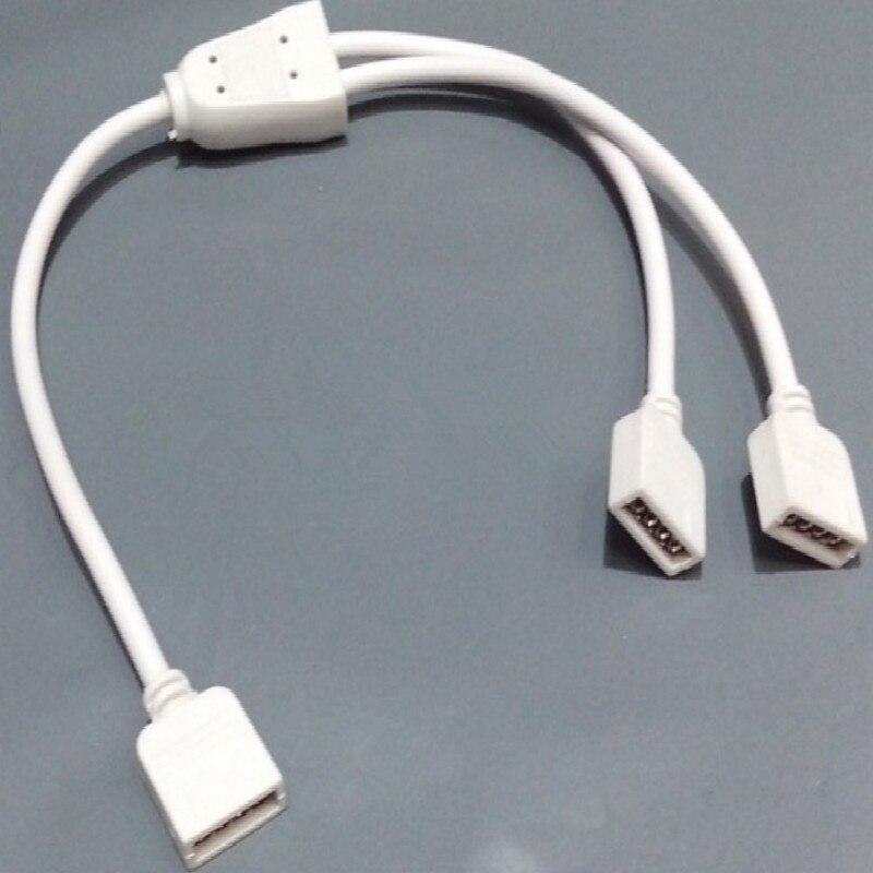 RGB levou conector luz 4 pinos levou conector tira 1 Divisão 2 dividir conector frete grátis