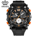 SMAEL Men Luxury Brand Sport Digital-watches Water Resistant Date Calendar Quartz Watch Dual Time Display Military Wriswatches