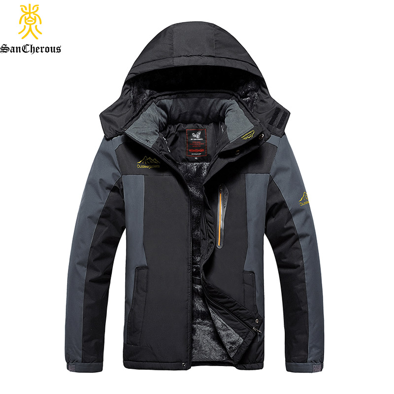Plus Size 9XL 2019 New Arrival Warm Outwear Winter Jacket Men Thick Windproof Coat Casual Men Jacket Fleece Parkas-in Parkas from Men's Clothing    1