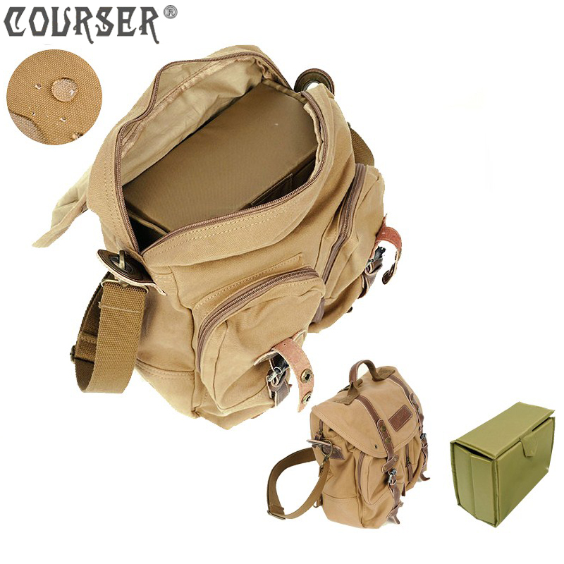 Canvas camera shoulder bag with partition padded inside camera bag for SLR cameras digital bag PACPF1006