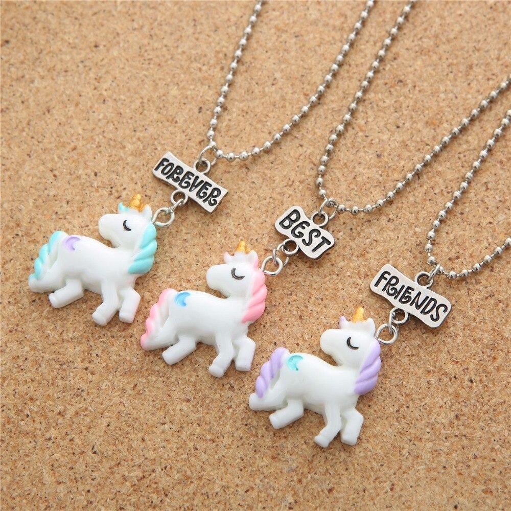 Ожерелье с единорогами для обувь девочек для детей Эмаль мультфильм лошадь jewelry интимные аксессуары Подвеска с фигуркой животного Единорог вечерние 7621