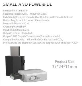 Image 5 - DISOUR 5.0 USB Bluetooth Trasmettitore Ricevitore TV Mini 3 IN 1 3.5 MILLIMETRI AUX HIFI Audio Stereo Senza Fili Adattatore Dongle per il Kit Auto PC