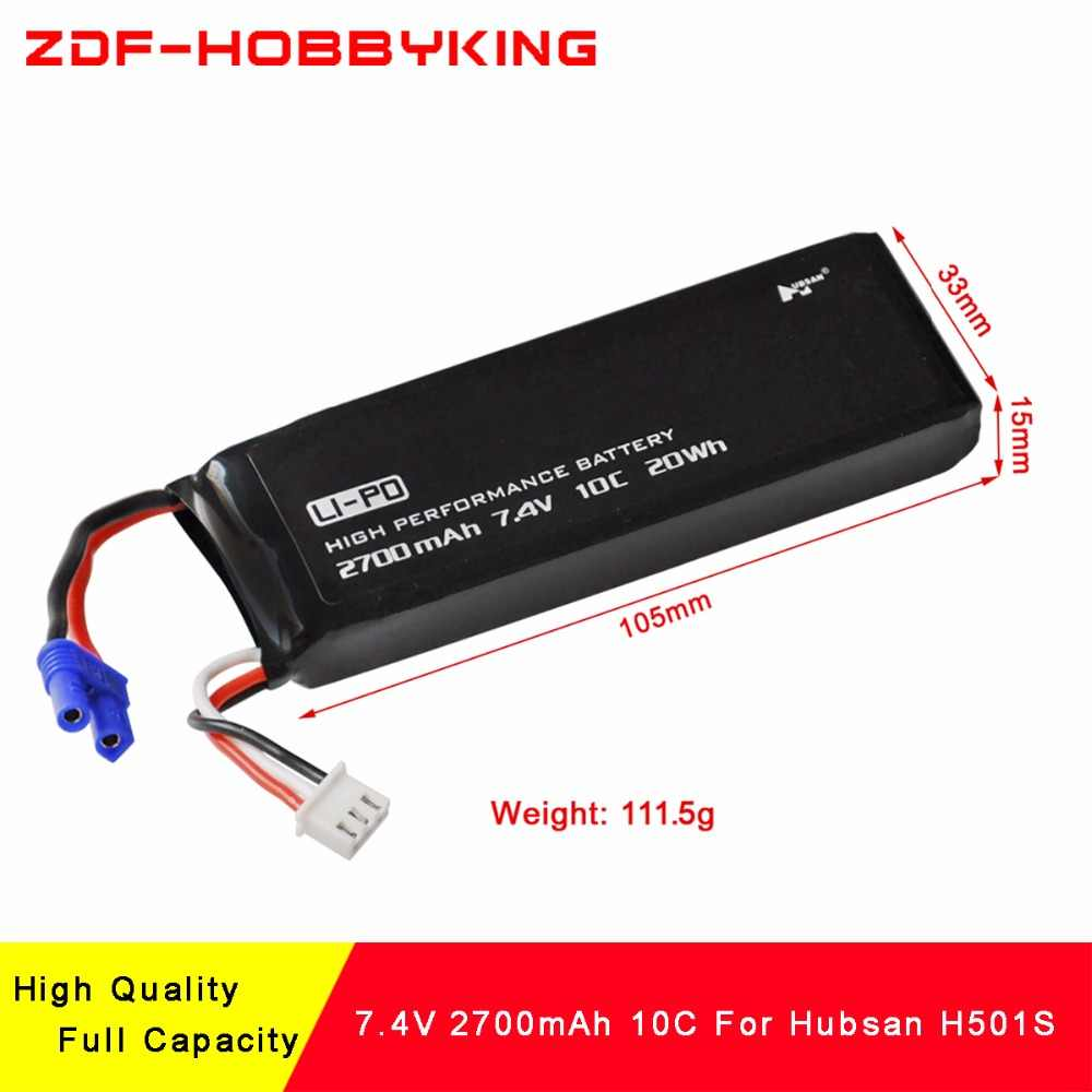 ZDF New Arrived High Quality 2S 2700mAh 7.4V 10C battery for rc quadcopter Hubsan H501S H501C H501A spare parts