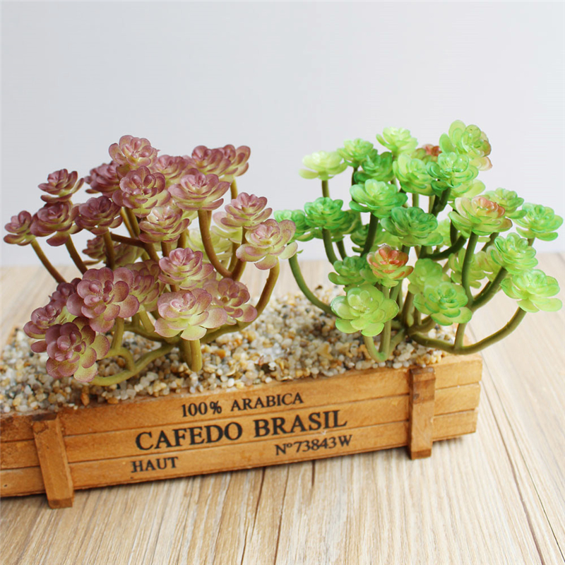 Artificial plants Simulate succulent cactus DIY Small green plant artificial flowers home garden decoration AQ155