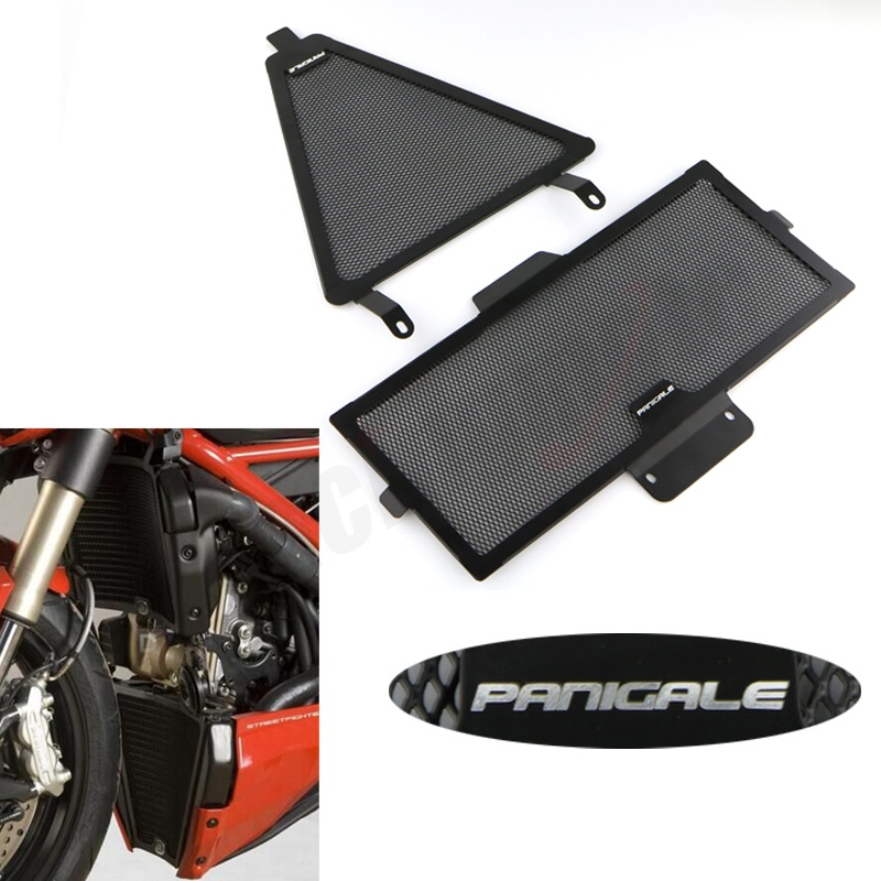 Aluminum Radiator Covers And Oil Cooler Guard For DUCATI Panigale 1299 1199 959 899 Radiator Guard brand new oil cooler cover for 4be1 4bc2 4bf1 npr ks22 8 94438 371 0 oil cooler covers