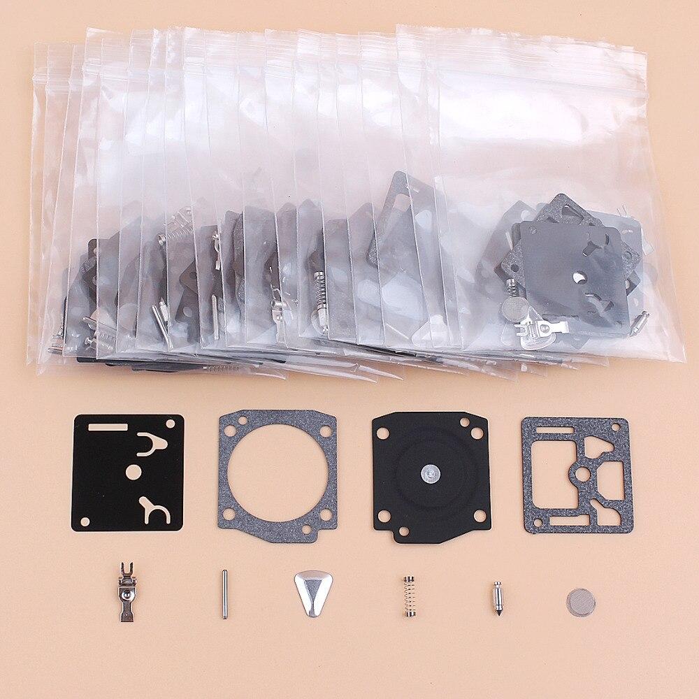 20pcs lot 20Pcs/lot Carburetor Carb Repair Rebuild Kit Fit Husqvarna 362 365 371 372 372XP Jonsered 2065 2165 Chainsaw Zama RB-31 RB31 C3A (2)