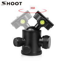 SHOOT Aluminum Alloy Heavy Duty Camera Tripod Ball Head for Dslr Digital Stand with Quick Release Plate Standard 1/4 Screw Mount