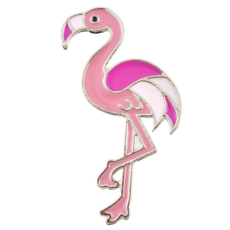 Kawaii Icons Flamingo Metal Enemal Pins Badges Cartoon Icons Backpack Decoration Brooches For Clothes