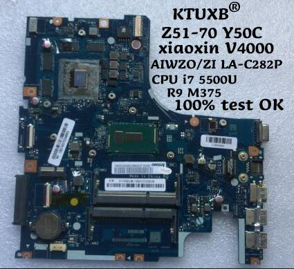 KTUXB AIWZO ZI LA C2P for Lenovo Z51 70 Y50C xiaoxinV4000 notebook motherboard CPU i7 5500U