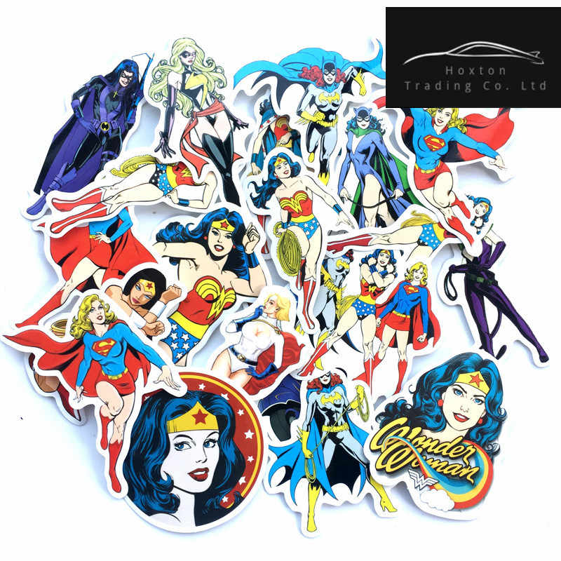 20pcs/lot DC MARVEL wonder woman stickers For suitcase car accessories motorcycle bike travel case car-covers waterproof dec