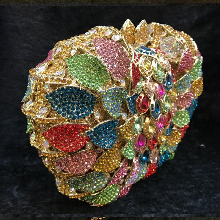 As À De Mariage Floral Cristal Sacs Strass Color Soirée Évider Fuchsia Sac Bandoulière Pictur D'embrayage color Femmes Embrayages Pictur Main Nuptiale Same qFwBU4