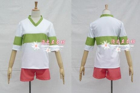 T-shirt sans manches Chihiro no kamikakushi, ensemble de costume cosplay