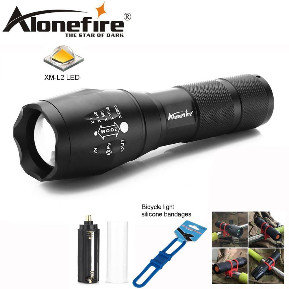 AloneFire E17 CREE T6 XML-L2 8000LM Waterproof Zoomable 5 modes LED Flashlight Torch light for 18650 Rechargeable Battery or AAA powerful led flashlight 1603 38 cree xm l2 xml t6 lantern rechargeable torch zoomable waterproof 18650 battery lamp hand light page 5