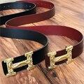 Cinturones de diseñador Hombres de Alta Calidad Cinturones de Cuero Genuino Para Los Hombres Marca Hebilla Ceinture Homme Cinturones Hombre Correa Masculina MBT0256