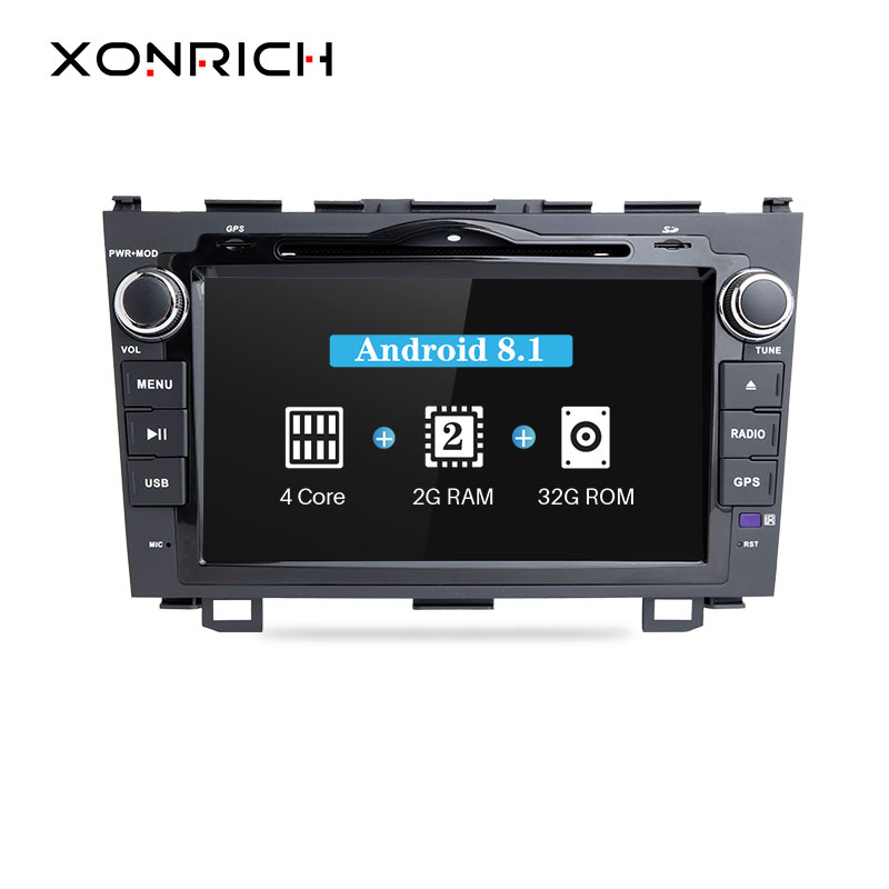 Xonrich Auto Multimedia Player 2Din Android 8.1 AutoRadio Für Honda <font><b>CRV</b></font> CR-V 2006 2007 <font><b>2008</b></font> 2009 2010 2012GPS Band Recorder Audio image