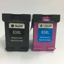 Vilaxh 2pcs 63xl compatible for hp 63 ink cartridge replace Deskjet 1110 1112 2130 2131 2132  3630 3631 4520 3830