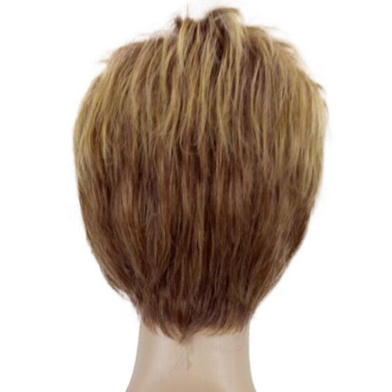HAIRJOY Γυναίκα Ξανθιά Μικτή Σύντομη - Συνθετικά μαλλιά - Φωτογραφία 5