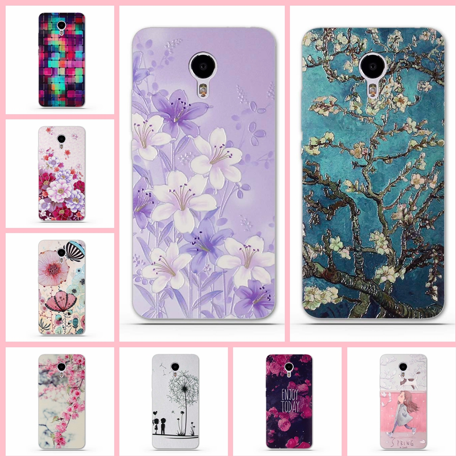Soft TPU Back Case for Meizu M3 Note Case Cover for Meizu M3 Note Phone Cases Silicon Bag Luxury 3D Relief Printing Bag M3note