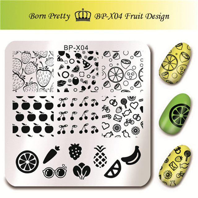 Aliexpress.Com : Buy Born Pretty Nail Art Stamp Template Fruit