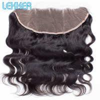 Lekker ciało fala 13X4 koronka Frontal zamknięcie brazylijski ludzki włos naturalny kolor włosów ludzkich splot wiązek z zamknięciem z dzieckiem włosy szwajcarska koronka