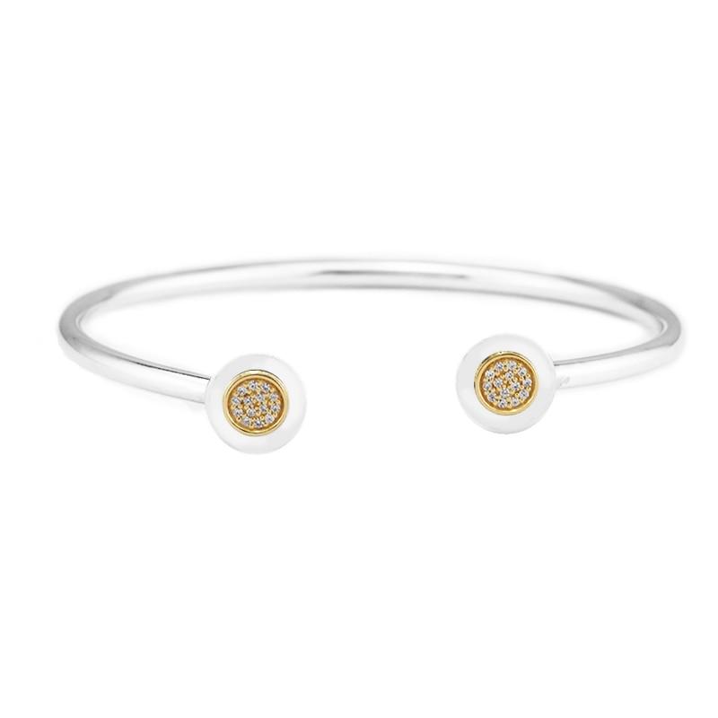Compatibel Met Europese Sieraden Zilveren Armband met Clear CZ 100% 925 Sterling Zilveren Armbanden DIY Groothandel-in Armbanden & Armring van Sieraden & accessoires op  Groep 1