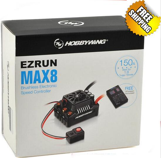 New Release Hobbywing EZRUN MAX8 V3 Waterproof 150A Brushless Speed Controllers For 1/8 1/5 Sport